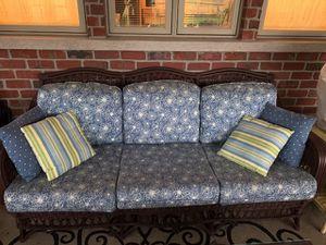 Wicker Screen Porch / Three Season Furniture (full set) for Sale in Naperville, IL
