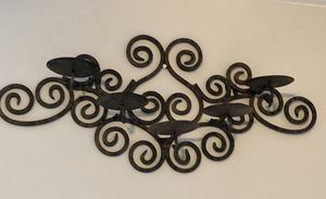 Rustic candelabra Iron heavy metal Wall Deco for Sale in Oak Lawn, IL