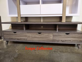 NEW, TV Stand up to 85in TVs, Distressed Grey, SKU# 151280DGY for Sale in Westminster,  CA