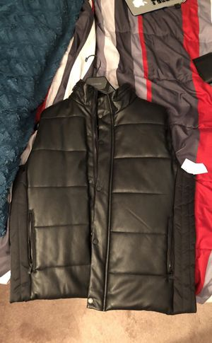 Calvin Klein Men's Faux Leather Vest for Sale in Sterling, VA