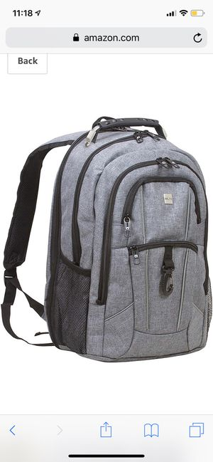 """Dejuno Commuter BackPack (Cool Grey) with 15.6"""" laptop pocket for Sale in Revere, MA"""