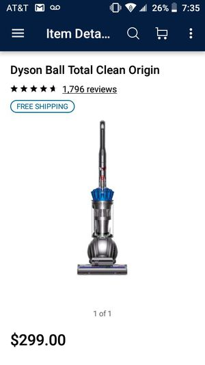 Dyson Ball Total Clean Vacuum for Sale in Garland, TX