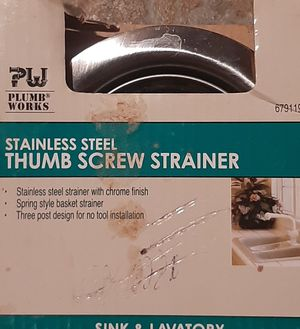 THUMB SCREW STRAINER STAINLESS STEEL for Sale in Peoria, IL