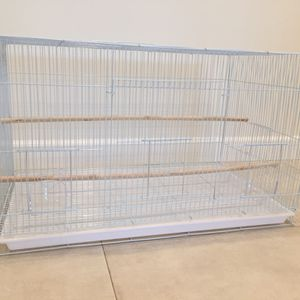 Large Rectangular White Bird Cage BRAND NEW for Sale in Los Angeles, CA