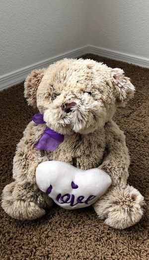 Bear With Heart Stuffed Animal for Sale in Scottsdale, AZ