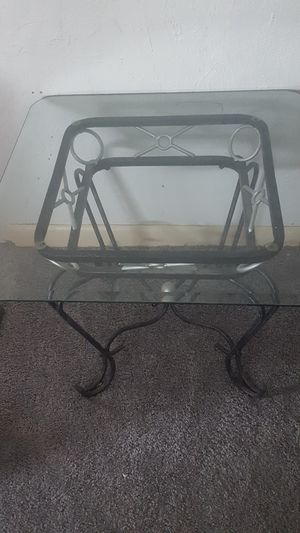 Wrought Iron Glass Coffee Tables for Sale in Denver, CO