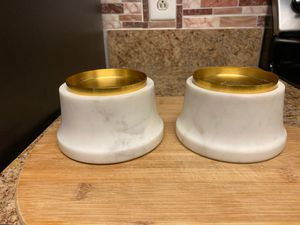 Set of 2 threshold Pillar candle holders (heavy) for Sale in Virginia Beach, VA