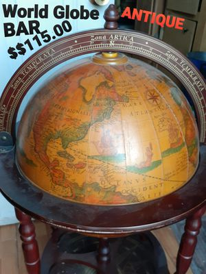 Antique World Globe Bar for Sale in TIMBERCRK CYN, TX