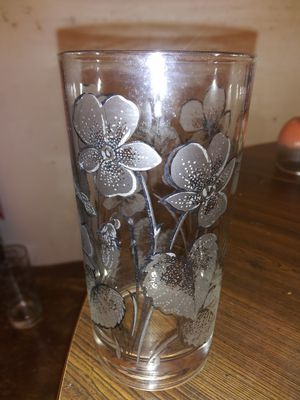 Vintage glasses with flowers painted on. for Sale in Stovall, GA