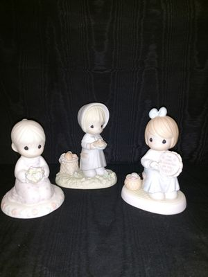 3 Precious Moment Figurines Mint Condition for Sale in Dallas, TX