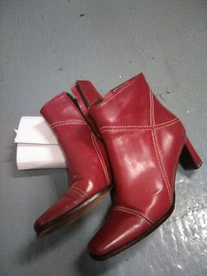 Size 7, Tosone, Red Leather boots, made in Argentina. for Sale in Costa Mesa, CA