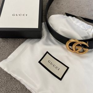 Gucci Leather Belt Black with Double G Buckle for Sale in Orlando, FL