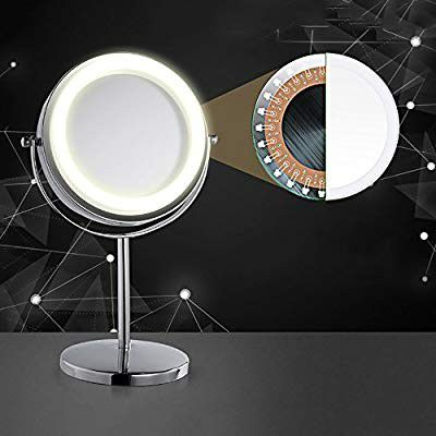 Vanity Makeup Mirror,Magnifying Mirror Brightness Adjustable Make up Mirror