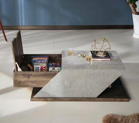 Modern Coffee Table With Storage in Reclaimed Oak And Gray for Sale in Ontario,  CA