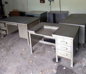 Vintage steel tanker desks & chairs for Sale in Lemont, IL