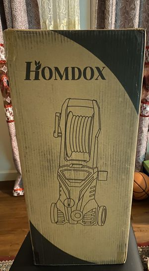 Homdox 3000 PSI Professional Electric Pressure Washer 1.76GPM, 1800W Rolling Wheels High Pressure Washer Cleaner Machine with Power Hose Nozzle Gun a for Sale in St. Louis, MO