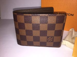 Louis Vuitton Damier Brown Leather Wallet Authentic for Sale in Queens, NY