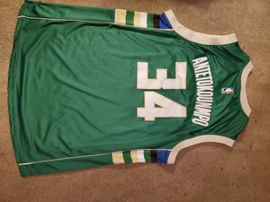 Giannis Antetokounmpo Milwaukee Bucks #34 Jersey XXL for Sale in Puyallup, WA