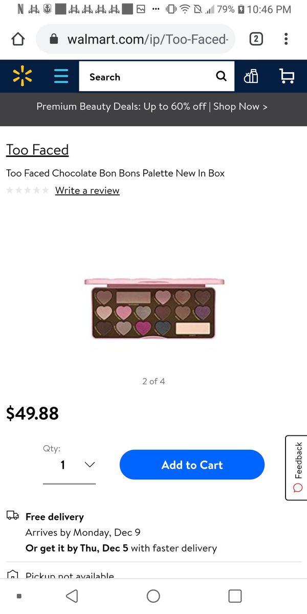 TOO FACED CHOCOLATE BONBON EYESHADOW PALLET