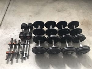 Dumbbells Set Pro Style for Sale in Rancho Cucamonga, CA