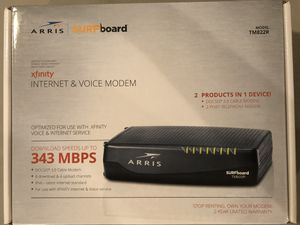 Arris surfboard internet and voice Modem for sale for Sale in Fort Lauderdale, FL