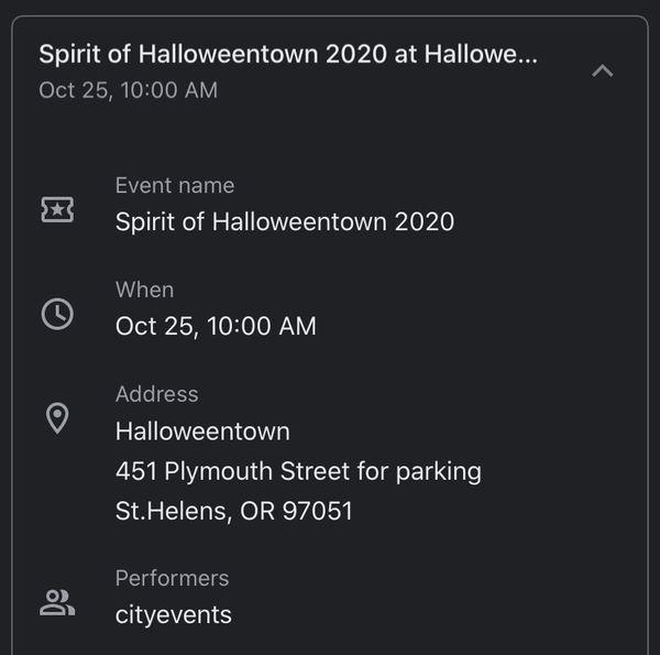 Halloweentown tickets in Oregon