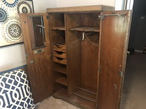 Very Antique armoire, possibly depression era not sure for Sale in Powdersville, SC