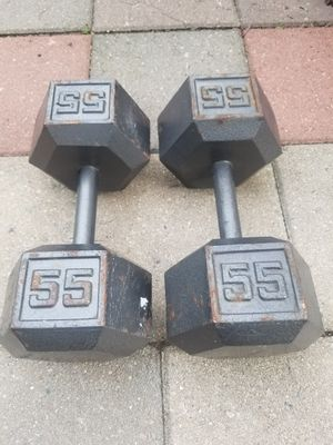 Dumbbells. Weight set. Gym equipment. Excersise. Pesas for Sale in West Chicago, IL