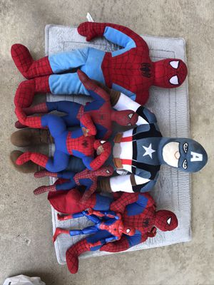 Plush marvel Spider-Man and captain America for Sale in West Covina, CA