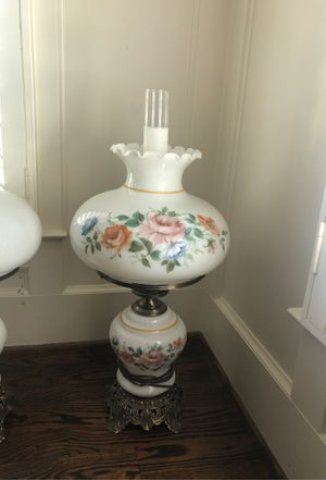 Pair Antique Hurricane lamps for Sale in Franklin, TN