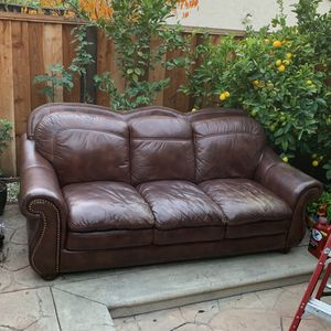 Leather Sofa . Fits 3 for Sale in San Jose, CA