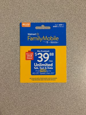 Walmart Family Mobile $40 card!!! for Sale in Easley, SC