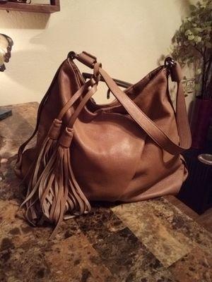 KOOBA Tan SOFT Genuine Lamb Leather Fringe Tassel Slouchy Hobo Shoulder Bag Purse *Retail $348* for Sale in Phoenix, AZ