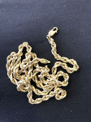 10k gold rope chain for Sale in Houston, TX