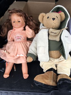 Doll and teddy bear for Sale in Portland, OR