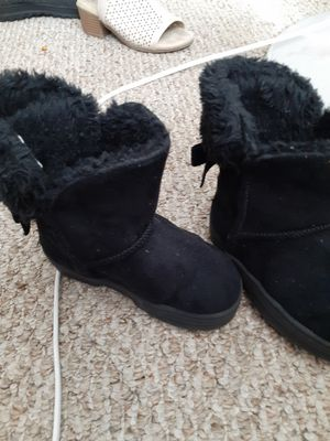 Babe little girl black boots for Sale in Bowling Green, OH