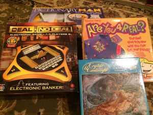 PICTIONARYMAN, DEAL OR NO DEAL, ARE YOU 4 REAL?, AND CANDLELIGHT PUZZLE for Sale in Virginia Beach, VA