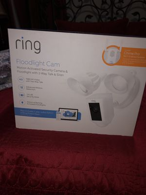 Ring Floodlight Security Camera + Chime Pro for Sale in Rancho Cucamonga, CA