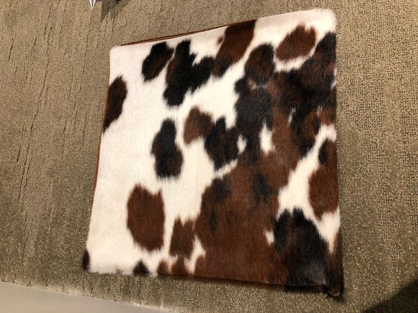 (2) Cowhide Pillow Covers