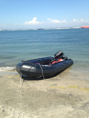 15.5' inflatable boat with 55hp johnson for Sale in San Diego, CA