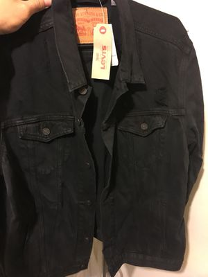Levi jean jacket black for Sale in Bronx, NY