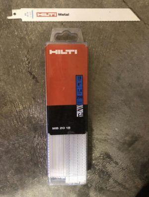 "Hilti Reciprocating saw blades 8"" (50 units) for Sale in Arlington, VA"
