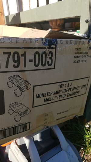 Monster jam truck birthday gifts for Sale in Buckley, WA