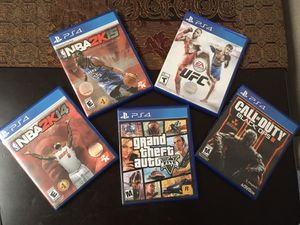 Ps4 games and headphones for Sale in Miami, FL