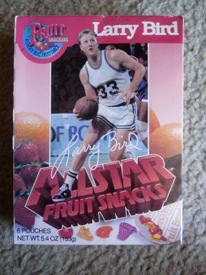 Vintage Larry Bird Boston Celtics Fruit Snacks for Sale in Goodyear, AZ