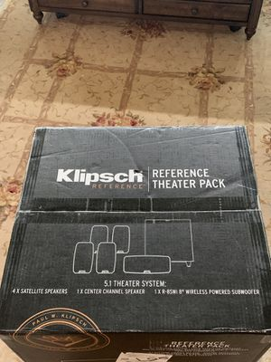 Klipsch Reference Theater pack 5.1 Dolby speakers. Brand New from Amazon still factory sealed. Bought these and decided to go with a different in wal for Sale in Cypress, TX