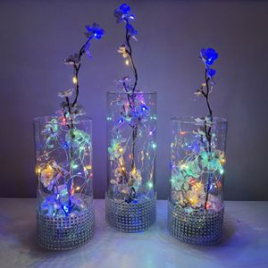 Silk Flowers Glass Vase Led Lights for Sale in VA, US