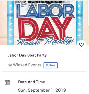 Labor day weekend boat party for Sale in Antioch, CA