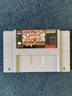 Super Street Fighter II SNES for Sale in Anaheim,  CA
