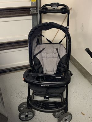 Double stroller Sit and stand stroller for two, can also hold infant car seat for Sale in Chino, CA